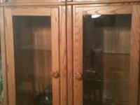 Solid oak hutch/entertainment center we bought this to