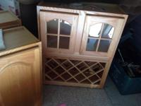 Very pretty solid oak cabinet, with two doors and two