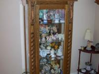 LIONS HEAD CURIO CABINET, AMISH HAND MADE ,LIONS HEAD