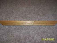 Oak mantle/shelf Can be mounted to the wall or set on a