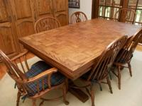 Type: Dining Room Type: Sets Oak rectangular table with