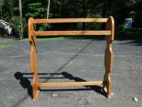 Beautiful solid oak quilt rack. e-mail or call