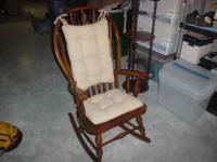 Oak Rocking Chair by Virginia House Furniture Company.
