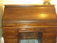Authentic Oak Creek by Riverside Roll top desk. It