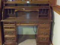 Oak roll top desk Make offer call  Location: Billings