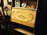 "We providing an oak secretary/bookcase. 30"" wide, 13"""