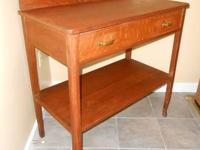 OAK SERVER SIDEBOARD BUFFET w/ DRAWER & SHELF UNDER,