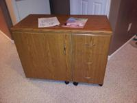 This sewing cabinet is in like new condition. It