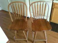 Hi, I have these 2 solid oak stools up for sale. The