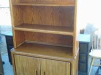 Lovely Oak Storage and shelving device. Shelving space
