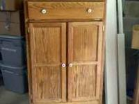 "Really good condition oak chest. Measures 32"" wide bu"