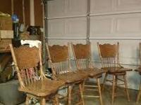 I have 5 oak swivel chairs in pre-owned condition.