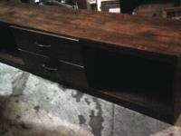 Beautiful solid oak entertainment center with pocket