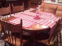Table with six chairs nice condition  Or  Location: