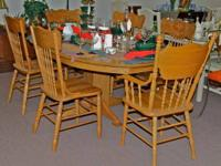 Oak Table with Six Chairs  Prices (including mark-down