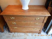 For sale is a very perfectly restored solid oak three