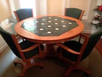 Really nice oak and tile cooking area table and