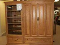 Hooker Entertainment Center. Solid wood construction.