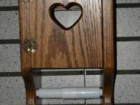 Oak Wall surface Mount Bathroom tissue Cupboard - Amish