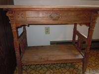 REDUCED FROM $250.00 Antique/Vintage Oak Wash Stand. Is