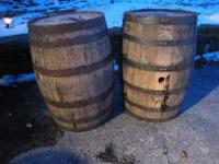 I have 5 oak Bourbon Whiskey Barrels straight from