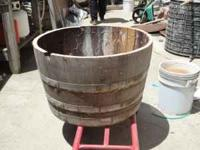 Oak Wine Barrel Halves. Perfect planters Excellent