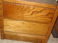 Very nice nightstand made of solid wood with 2 drawers