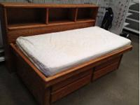 Oak Captain Twin Beds - very good condition - 4 built