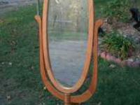 Oak Chevel Mirror for sale in great condition. Measures