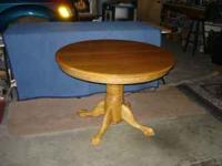 "This is a 42"" round table with 18"" leaf, when added"