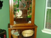 Hand made one of a kind curio cabinet with a stained