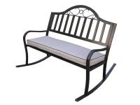 This rocking bench will be a beautiful addition to your