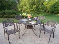 This 48 in. five piece dining set is the prefect piece