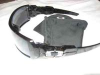 Oakley Polished Black & Silver Ghost Text Frames Black