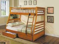Bunk beds!! Has a twin on top and a double on bottom.