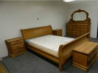 Solid Oak bedroom set Master King size oak crest king