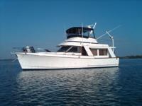 Ocean 40 Trawler Ed Monk designed Dual Detroit Diesels