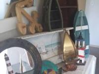 Tall wooden Canoe shelf. Canoe Lamp. Small wooden