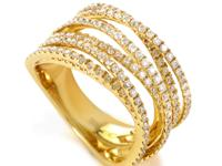 With the sheer gleaming allure of 18K yellow gold and