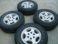 Rims and tires off 2005 GM, tires P235/75R/16 all hold