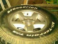 "2001 OEM JEEP WRANGLER WHEELS with DECENT 31"" BF"