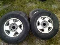 OEM Chevy Wheels and 4 Tires 265/70/16 Firestone