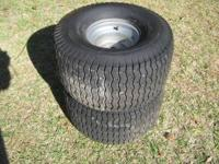 Lawn mower tires Off of a craftsman two 20x10.00-8 Good