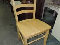 "Sold Wood Kitchen area Chair - 541 (). 17""w - Volume:"