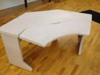 Rubbermaid office desk. All white. Corner piece.  In