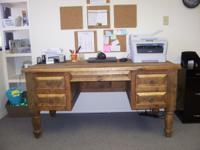 Large mexican style desk (used 6 mos)$375; office chair