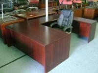 Pre owned Office desk. U-shape desk w/filling drawers