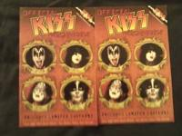 This ad features two official Kiss merchandise catalogs
