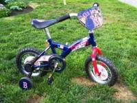 Official MLB Red Sox Bike with training wheels in new