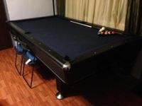 I don't know the official size of the pool table. Pool
